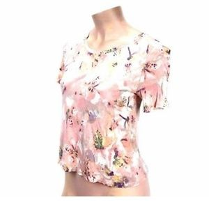 Women's Chloe K Laced Pink Floral Mix  Shirt